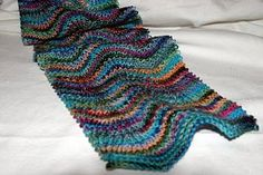 Living to Tell the Tale: Chevron Scarf, with gentler waves