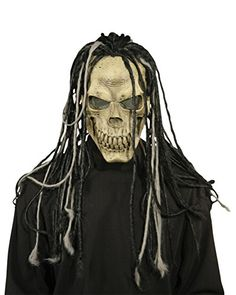 Dead Dread Mask WHair Scary Horror Latex Adult Halloween Costume ** You can find more details by visiting the image link.