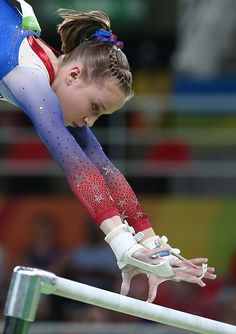 Artistic gymnast Madison Kocian of the United States competes to win silver in…
