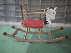 Vintage horse rocking chair for child or toddler   Item has wear, could do with a coat of varnish, Pictures best explain condition. Free shipping.   If your interested in this item contact Jam@iamjam.net Deal direct through PayPal and pay less, make me an offer