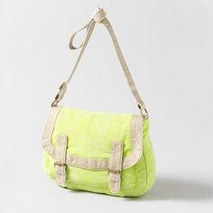 Neon Yellow Messenger Bag    Follow us on Facebook: https://www.facebook.com/westfieldvalleyfair
