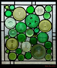 recycled glass bottles used for stained glass windows