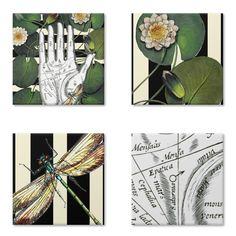 Magneto Dragonfly's Fortune de @lagostadesregrada | Colab55    #portacopos #imãs #geladeira #libelula #flor #verde #listras