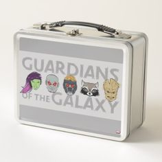 Guardians of the Galaxy | Crew Rough Sketch Metal Lunch Box - drawing sketch design graphic draw personalize