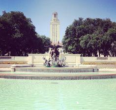 On campus: University of Texas #Austin #Longhorns