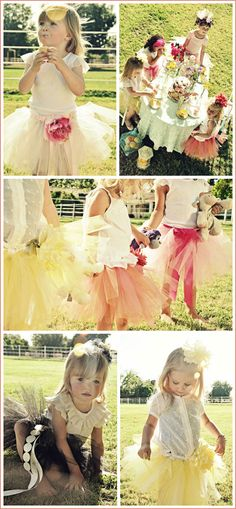 Love tutus for flower girls : )