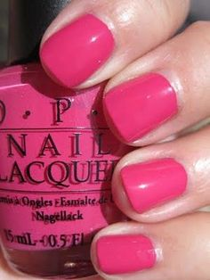 OPI Pink Flamingo - a great toe nail color