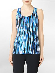 performance abstract haywire print lean tank top | Calvin Klein