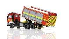 LEGO MAN TGS Hooklift Truck - Wechselladerfahrzeug   von Niklas-B