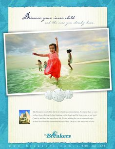 Creative print, The Breakers The Breakers, Cool Rooms, 20 Years, Advertising, Children, Beach, Creative, Movie Posters, Life