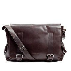 fef046b1d611 FEYNSINN grand sac bandoulière ASHTON - sacoche pour ordinateur portable en  cuir - besace homme retro