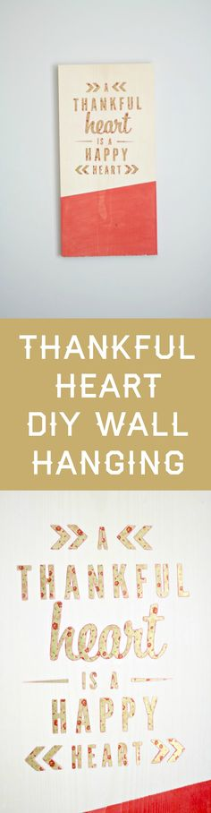 Use this simple tutorial to make Thanksgiving wood wall art that you can keep up all year! This sign is easy to create with leftover wood and stickers. via @diy_candy