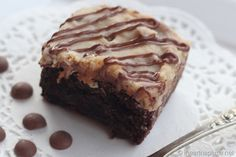 German chocolate brownies ...drizzled with extra caramel and chocolate! The BEST!