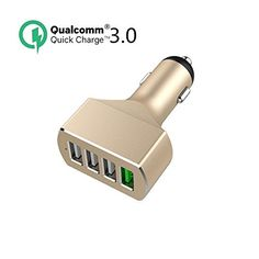 4-Port USB Car Charger Adapter for iPhone, iPad, Samsung and More