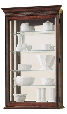 Lowest price online on all Howard Miller Edmonton Wall Display Curio Cabinet - 685104 Wall Curio Cabinet, Wall Display Cabinet, China Cabinet, Curio Cabinets, Display Cabinets, Wall Cabinets, Display Shelves, Display Ideas, Kitchen Cabinets