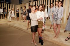 Jaime King and Hanneli Mustaparta attend the Ann Taylor Spring/Summer 2015 Presentation on October 16, 2014 in New York City