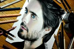 A lovely drawing of jared leto by a great artists