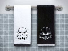 Star Wars Hand Towel Set - Darth Vader & Stormtrooper
