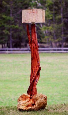 New Spruce Burl/ Diamond Willow / Birch Lamp.