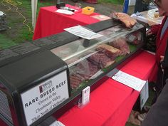 Our beef counter at Slow Food Melbourne's monthly farmers' market at Abbotsford Convent