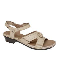 Cream Petal Leather Sandal