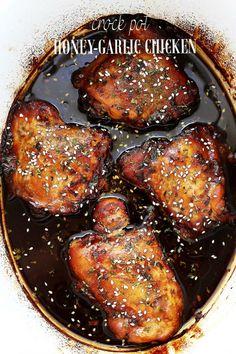 Paleo Crock Pot Honey Garlic Chicken