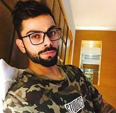#virat #kohli is a nerdy look #relaxing #reading #specs #nerd #india #cricketer