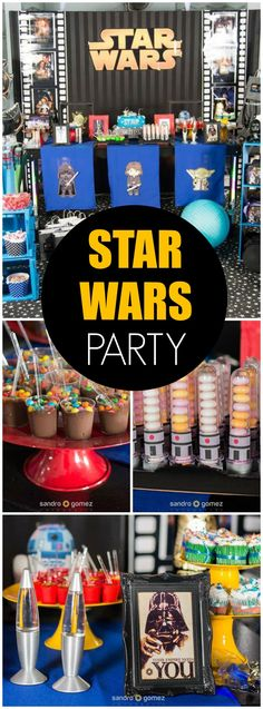 Lots of great ideas at this Star Wars birthday party! See more party ideas at CatchMyParty.com!