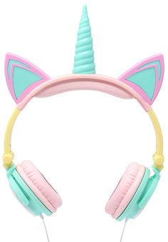 Light-Up Unicorn Headphones! Over The Ear Comfort Padded Stereo Headphones with AUX Cable, Earphones. Such fun and Games with Great Design! See: Gabba Goods Light Up Unicorn, Unicorn Kids, Unicorn Crafts, Rainbow Unicorn, Unicorn Birthday, Girl Birthday, Tween Girl Gifts, Tween Girls, Toys For Girls