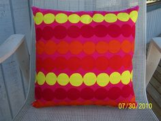 Marimekko 16x16 Pillow Cover. $10.00, via Etsy.