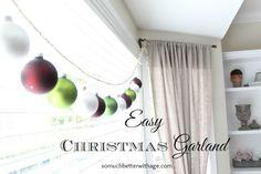Easy Christmas Garland