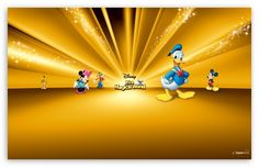 FREE Wallpaper: Disney Characters Gold