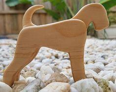 Handgefertigt aus Holz Hund Airedale Terrier Welsh Terrier