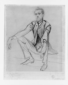 Sargent cherished this candid drawing of his lifelong friend Paul Helleu (1859–1927) and hung it in the dining room of his Paris apartment.