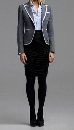 winter work skirts tights outfits women | who says women cannot be sexy at work who says work clothes cannot be ...