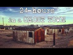 24 HOUR OVERNIGHT CHALLENGE IN A GHOST TOWN (bloody hospital found!!!) |...