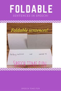 DIY Foldable Sentenc