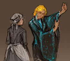 Howell with big sleeves is pretty great. but what if he got sophie a dress with matching big sleeves Answer: That would be cute as heck, anon Studio Ghibli Art, Studio Ghibli Movies, Howl Pendragon, Castle Series, Howl And Sophie, Character Art, Character Design, Howls Moving Castle, Hayao Miyazaki