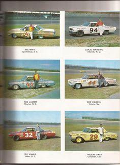 1962 drivers Daytona Nascar Crash, Nascar Racing, Auto Racing, Vintage Race Car, Vintage Auto, Ford Stock, Old Scool, Real Racing, Old Race Cars