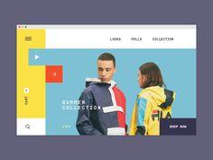 Fila concept store redesign mondrian rectangular yellow looks eshop sport fila Edm Template, Photography Website Templates, Digital Photo Album, Ui Web, Website Design Inspiration, Email Design, Web Layout, Interactive Design, Design Development