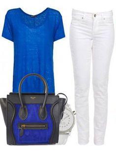 Celine Luggage Small Handbag Multicolour Black Blue