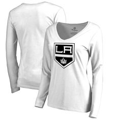 Los Angeles Kings Fanatics Branded Women's Primary Team Logo Long Sleeve T-Shirt - White