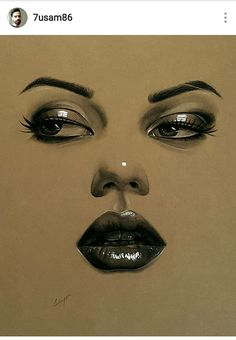 Unique Drawings, Amazing Drawings, Amazing Art, Art Drawings, Nose Drawing, Graphite Drawings, Sketch Painting, Chalk Art, Art Pages