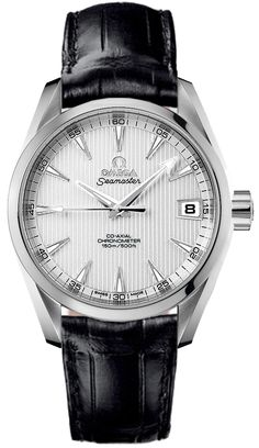 Buy an Omega Aqua Terra Mid Size Chronometer at a discont from the RRP. Omega Aqua Terra, Omega Railmaster, Seamaster Aqua Terra, Omega Seamaster, Cute Watches, Men's Watches, Gold And Silver Watch, Omega Planet Ocean, Luxury Watches For Men