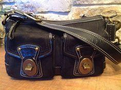 COACH Legacy Black Signature Canvas Patent Leather Turn Lock Hobo MSRP $348 #Coach #SatchelShoulderHandbagToteHobo