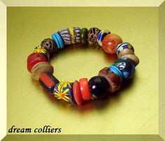 Glasperlenarmbänder - Buntes Afrika - Armband  extravagant - ein Designerstück von Dream-Colliers bei DaWanda