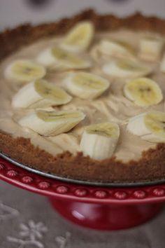 As Minhas Receitas: Cheesecake de Manteiga de Amendoim e Banana