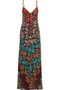 Missoni - Embroidered Crochet-knit Maxi Dress - Black - IT