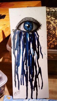 Melted Crayon Art by batjas88
