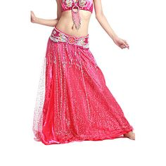 Oooh, satin with sparly tulle. Dancewear Satin/Tulle Belly Dance Skirt For Ladies More Colors – USD $ 16.99